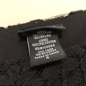 torrid Tops - Torrid 4 Black Lace Sleeveless/Tank Top